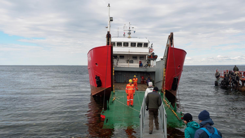 Schiff für Isla Madgalena