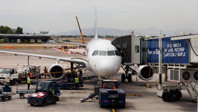 Flugzeug in Santiago