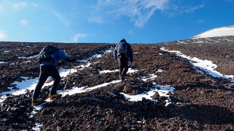 Aufstieg zum Parinacota