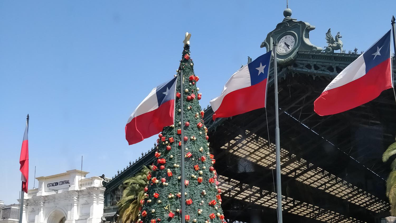 Weihnachtsbaum in Santiago de Chile