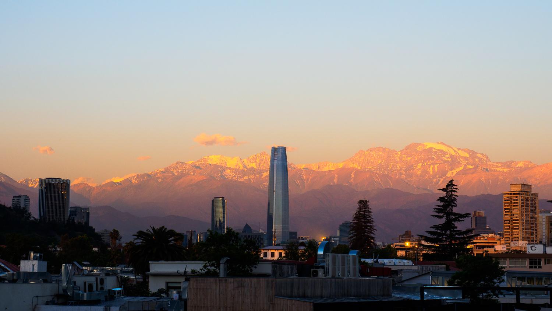 Santiago beim Sonnenuntergang
