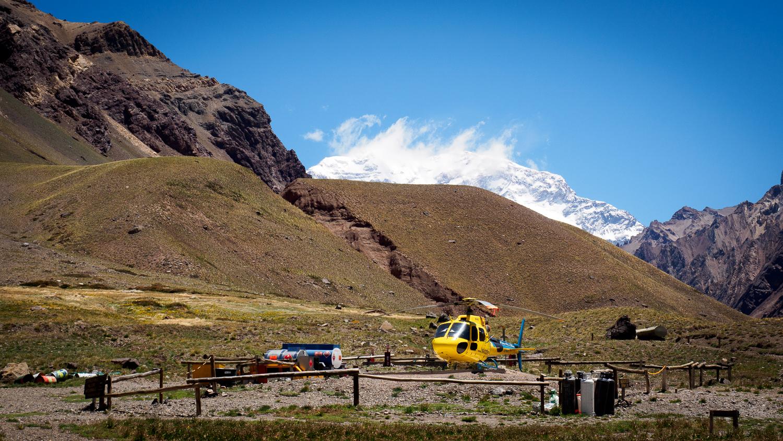 Helikopter am Einstieg