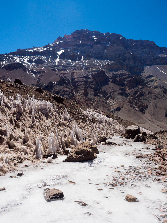Eis am Aconcagua