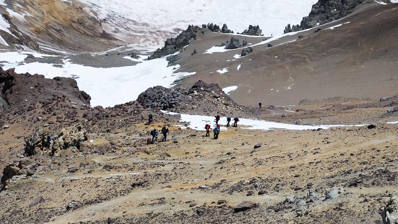 Bergsteiger bei Canadá
