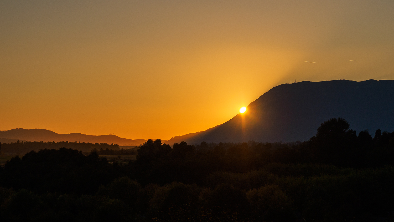 Sonnenuntergang Berg Nanos