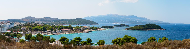 Ksamil an der albanischen Küste