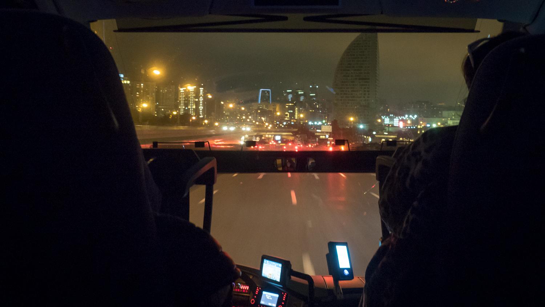 Straße nach Baku